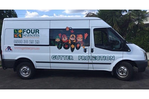 Four seasons Gutter Guards Installation Van